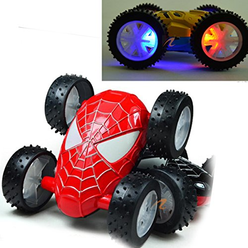 latinaric voiture bolide camion spiderman iron man clignotent jouet d enfants b b cadeau la. Black Bedroom Furniture Sets. Home Design Ideas