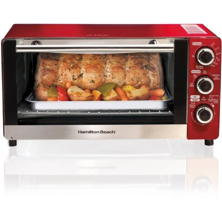 Hamilton Beach 6-Slice Convection Toaster/Broiler Oven in Candy Apple Red (Toaster Oven Broiler Red compare prices)