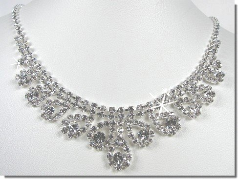 Bridal Crystal Necklace Set N1D24