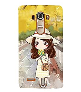 Vizagbeats Animated Girl Back Case Cover for LG G4::LG G4 H815