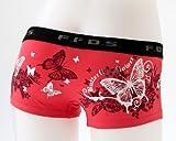ボクサーパンツ(レディース)花と蝶BC1709W ピンクS