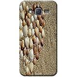 Tecozo Designer Printed Back Cover For Samsung Galaxy J7, Samsung Galaxy J7 Back Cover, Hard Case For Samsung Galaxy J7, Case Cover For Samsung Galaxy J7, (Heart Of Shells In Sand Design,Pattern)