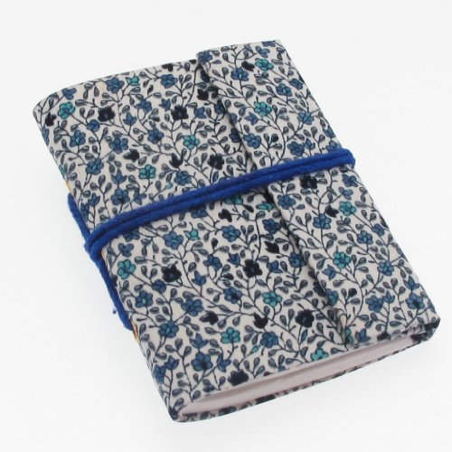 Fair Trade Block notes margherite blu 80 x 105 mm mini