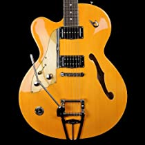 Duesenberg CC Carl Carlton - Left Handed - Semi-Acoustic Trans-Orange with OHSC