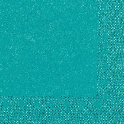 20 Servietten Türkis 25 x 25 cm 3 lagig, Cocktail Servietten, Servietten Modern Colours Tissue für den gedeckten Tisch Anlass, Fest, Party, Hochzeit, Taufe, Kommunion, Weihnachten, Ostern