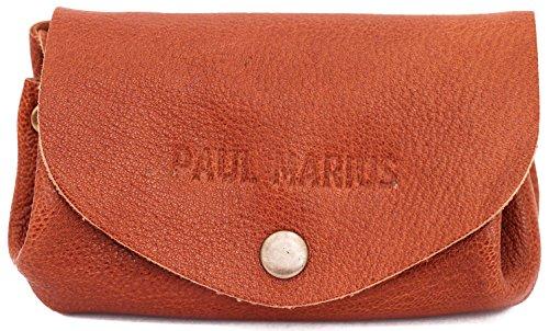 LE GUSTAVE NATUREL marrone portafoglio in pelle stile monedero epoca PAUL MARIUS