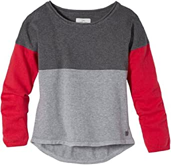 TOM TAILOR Kids Pull Manches longues Fille - Rouge - Rot (5419  smooth red) - FR : 16 ans (Taille fabricant : 176)