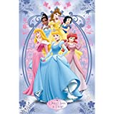 Disney Princess Once Upon A Time Metallic Signature Cartoon Large Metallic Foil Movie Film Poster 61 by 91.5cm