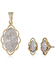 Ava Jewellery Set For Women (Golden) (S-B-APC1804)