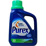 Purex HE Liquid Laundry Detergent, Mountain Breeze, 50 Ounce