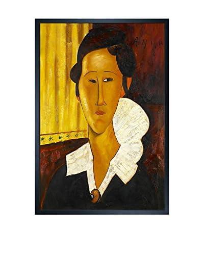 Amedeo Modigliani Portrait Of Anna Zborovska Framed Hand-Painted Oil Reproduction