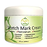Best Stretch Mark Cream - For Prevention and Removal of Old or New Marks - Stretch Mark Removal Cream for Men or Pregnant Women - Contains Vitamin E, Aloe Vera + Shea Butter to Fade Stretch Marks