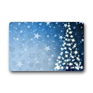Custom christmas tree door mats cover non for Door mats amazon