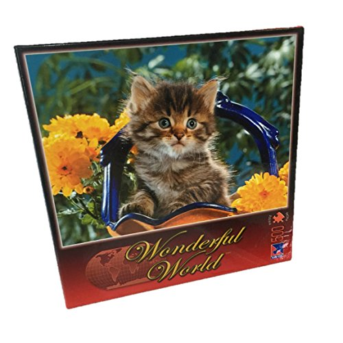 Wonderful World Series Jigsaw Puzzle by Sure-Lox: KITTEN BOUQUET - 500 pieces.