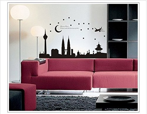 Ay diy malaysia 39 petronas twin tower print pvc wall decal for 3d wallpaper for home malaysia