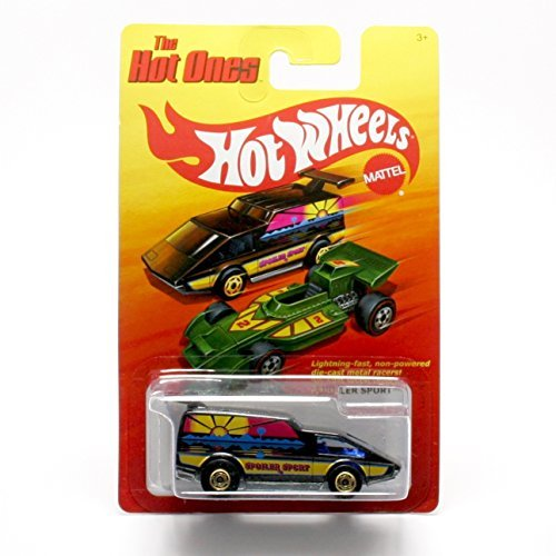SPOILER SPORT (BLACK) * The Hot Ones * 2011 Release of the 80's Classic Series - 1:64 Scale Throw Back HOT WHEELS Die-Cast Vehicle