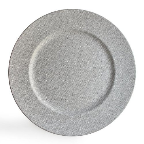 ChargeIt by Jay Round Charger Plate, Gray