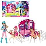 Barbie Cheval Set chance avec Stable Horses Poupées Stacie Chelsia