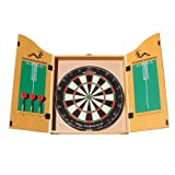 Woodworm Classic Darts Set with Bristle Dart Board and Cabinet