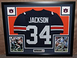 Bo Jackson Autographed and Framed Blue Auburn Jersey Auto GTSM Certified (Only $3.95...