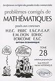 Mathématiques HEC 2006-2007 : Tome 28 (option économique)