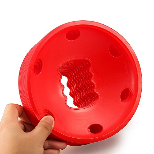 25 Counts Kevenz Plastic Sport Soccer Disc Cones Markers