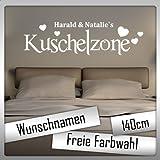 Kuschelzone Herz mit Wunschname! - Farbwunsch - 140cm - Jayess