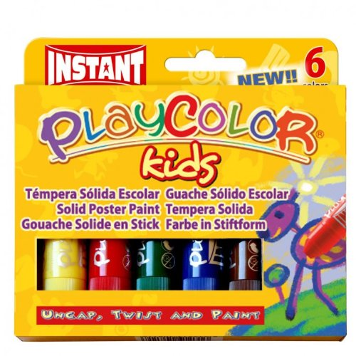 Instant Educa Play Color Kids Solid Poster Paints, 6-Standard