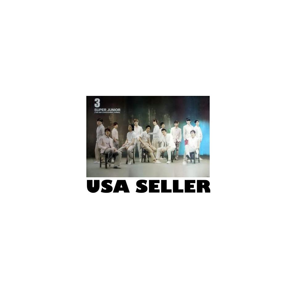 Super Junior 3 Sorry Sorry POSTER 34 x 23.5 Korean boy band SuJu Superjunior Lee Teuk Siwon Kyuhyun (poster sent from USA in PVC pipe)