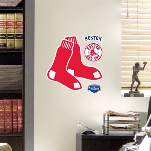 MLB Boston Red Sox Fathead Logo Decal (Red Sox Mlb compare prices)