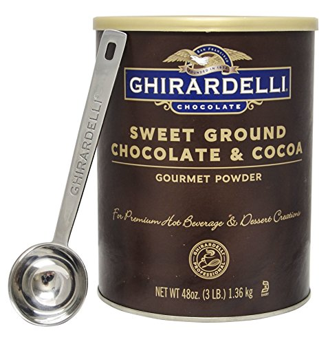 Ghirardelli - Sweet Ground Chocolate & Cocoa Gourmet Powder 3 lbs - with Exclusive 1.5 Tbsp Measuring Spoon (Ghirardelli Beverage compare prices)