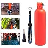 XCSOURCE Floating Bobber Hand Grip Monopod + Screw + Strap for Gopro Hero 2 3 3+ 4 Camera Orange Red OS187