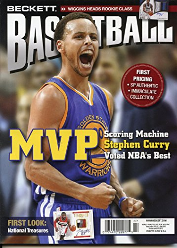 Current Beckett Basketball Monthly Price Guide Card Value Magazine July 2015 Stephen Curry Golden State Warriors
