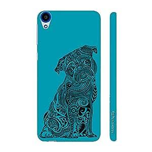 Enthopia Designer Hardshell Case Dog Tattoo Back Cover for HTC Desire 820