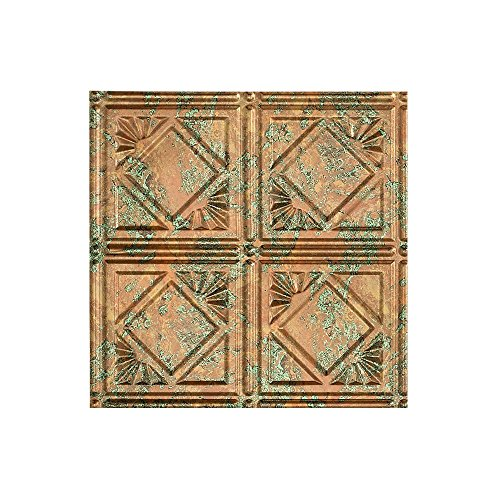 Fasade Easy Installation Traditional 4 Copper Fantasy Glue Up Ceiling Tile / Ceiling Panel (12
