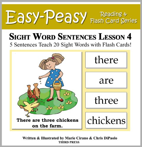 Free Kindle Book : Sight Word Sentences Lesson 4: 5 Sentences Teach 20 Sight Words with Flash Cards (Learn to Read Sight Words)