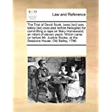The Trial of David Scott, (wwo [sic] was latlely [sic] executed before Newgate) for committing a rape on Mary...