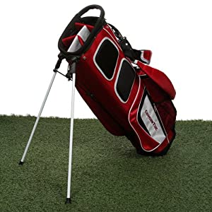 NCAA Alabama Crimson Tide Gridiron II Stand Golf Bag - Crimson/Black