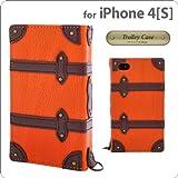 シンラクリエイション iPhone4/4S専用フラップタイプレザーケース Trolley Case オレンジ DCI-4TR-OR