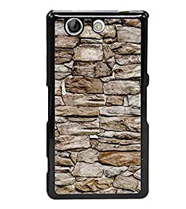 Stone Wall 2D Hard Polycarbonate Designer Back Case Cover for Sony Xperia Z4 Compact :: Sony Xperia Z4 Mini