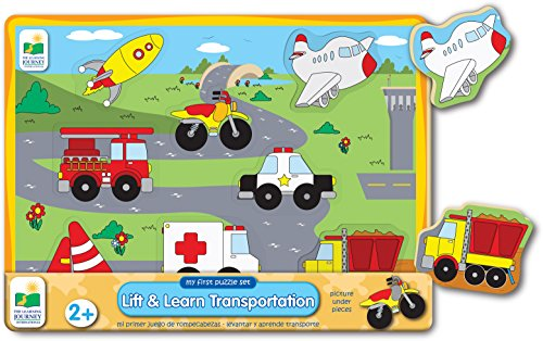The Learning Journey My First Lift & Learn Transportation Puzzle, Multi