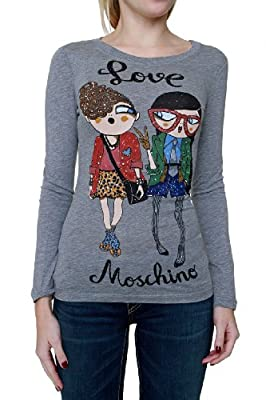 Love Moschino Longsleeve NERD GIRLZ, Color: Grey, Size: 36