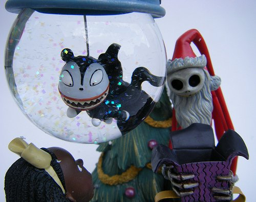 Nightmare Before Christmas Snowglobe Ornament with Stand