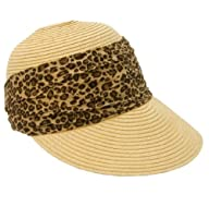 Large Front Brim Packable Straw Sun Hat for Women
