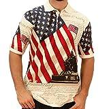 Allover Patriotic Polo Shirt (Large, LFRING-BB)