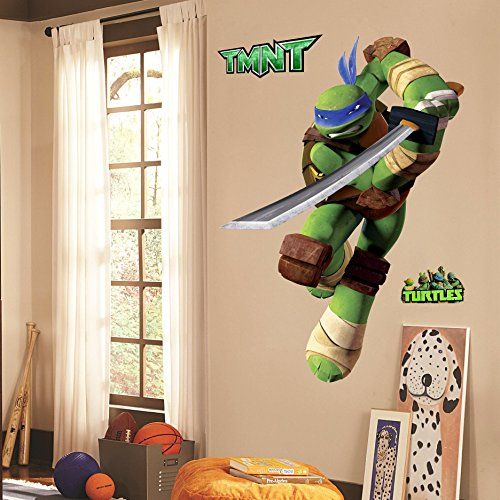 Teenage Mutant Ninja Turtles Leo Peel And Stick Wall Decals Sticker For Boys Kids Room Comic Wall Art Decor