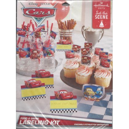 Disney Pixar Cars Food & Drink Labeling Kit
