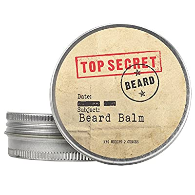 Cheapest Beard Gift Set for Men - Beard 2 in 1 Conditioner and Beard Moisturizer - Great For Itch Relief and Beard Growth - Made With Natural Essential Oils - Pocket Beard Comb Included - 2 oz Screw Top Tin from Top Secret Beard - Free Shipping Available
