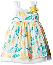 Pumpkin Patch Baby Girls' Dress (S5BG80020_Clean White_NB)