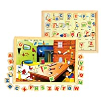 Skillofun Magnetic Twin Play Tray - Alphabet Attic, Multi Color
